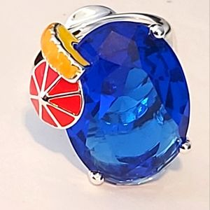 AVON | Sterling Silver Cocktail Ring - Blue Hawaiian